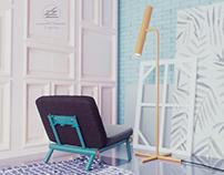 T-series metal lounge chair