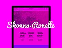 Shonna Ronelle Website Design