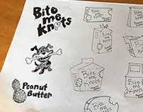 Bite me knots packaging design and illustration