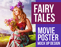 Fairy Tales Movie Poster Mock Up Creative Design