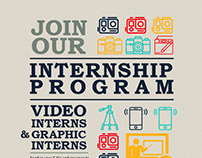 Internship Program Poster Design