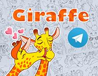Giraffe Stickerpack for Telegram