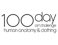 100 Day Art Challenge. Human Anatomy And Clothing.