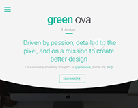 Free Website Template | Green Ova