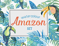 Watercolour Amason Clipart