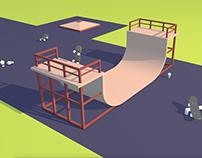 Skate - Park - Modeling & Animation