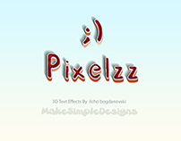 Free 3D Text Effect Layer Style