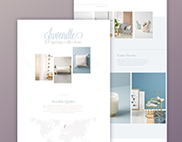 Decor & fashion landing page