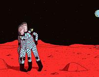 """""""Is Mars Man's Midlife Crisis?"""" Illustration"""