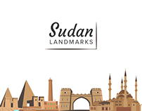 Sudan Landmarks Illustrations