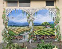 Trompe L'oeil Mediterranean Archway