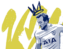 Unibet - Harry Kane Illustration