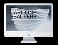 Website for Interior Designer Caroline Beaupere