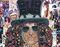 Detail of Slash Collage Portrait, Appetite For Creation