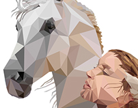 Lady and the horse-a LowPoly Art