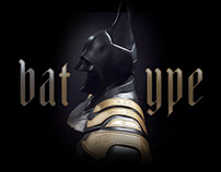 Typographic Batman for Warner Bros Italy