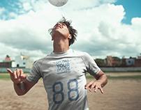 Custom Soccer Jerseys - Man Doing a Head Trick