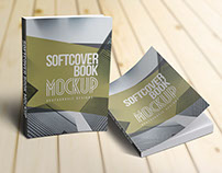 Realistic Softcover Books Mockups