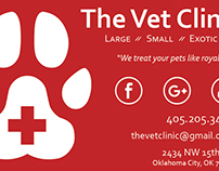 Mock business card designs for vet clinic