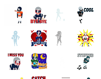 TouchDown Stickers