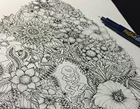 """Floral Uterus """"緑(ROKU)"""""""