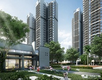 3D visualization--Residential project--Baiyun houses