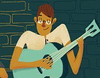 Sing a long song  ( Print Illustration )