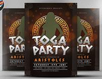 Greek Toga Flyer Template v2