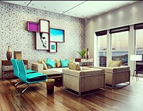 Vibrant living-room