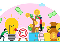 Business investor flat illustration