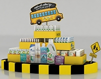 p&g back to school stands