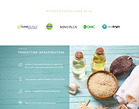 Web design. Health & cosmetics