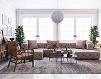 Scandinavian white room