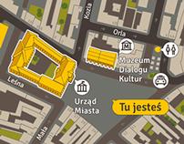 Kielce - Pedestrian Wayfinding System