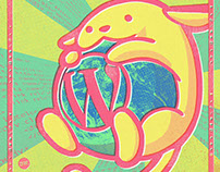 Wapuu fan club poster and Secret Pizza Party artwork