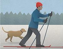 Cross Country Ski Poster