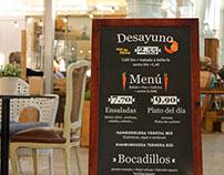 Cartelería restaurante biológico