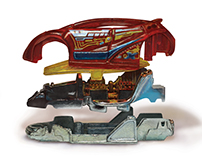 Exploded View of Toy Car