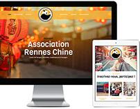 Création du site web de l'Association Rennes Chine