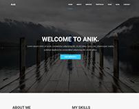 Anik - Personal Portfolio WordPress Theme
