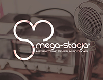 Logo concept for internet radio station Mega-Stacja.pl
