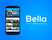 Bella fitness app UI & Theme Design   PSD Free-Download