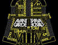 Avant Garde Typeface Research Poster