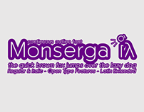 Monserga outline font