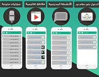 Poster for Application منشورات مميزات تطبيق جوال