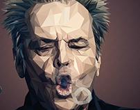 Jack Nicholson - Low poly