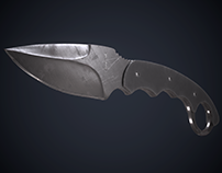 Browning Knife low-poly 3d model