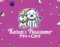 Karen's Pawsome Pet Care - Brand Identity