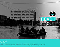 reach out - a disaster management app (UX case study)