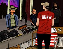 illustration   åmål bluesfest crew, 2015